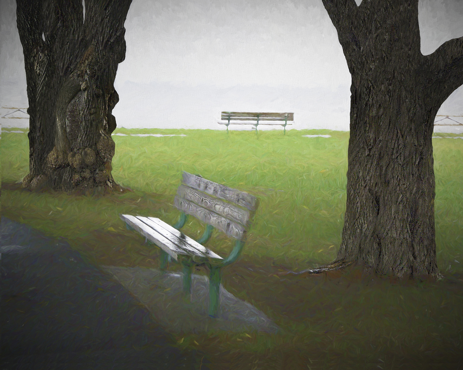 Carolyn Ray - Rain at Battery Park - New Castle, Delaware