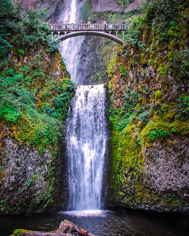 June Cason - Multnomah Falls