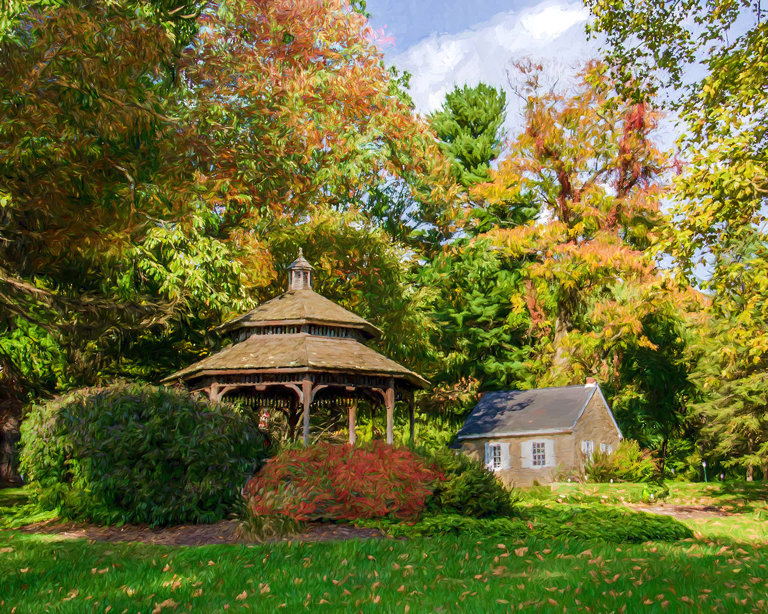 OlgaThornton - Gazebo in Fall