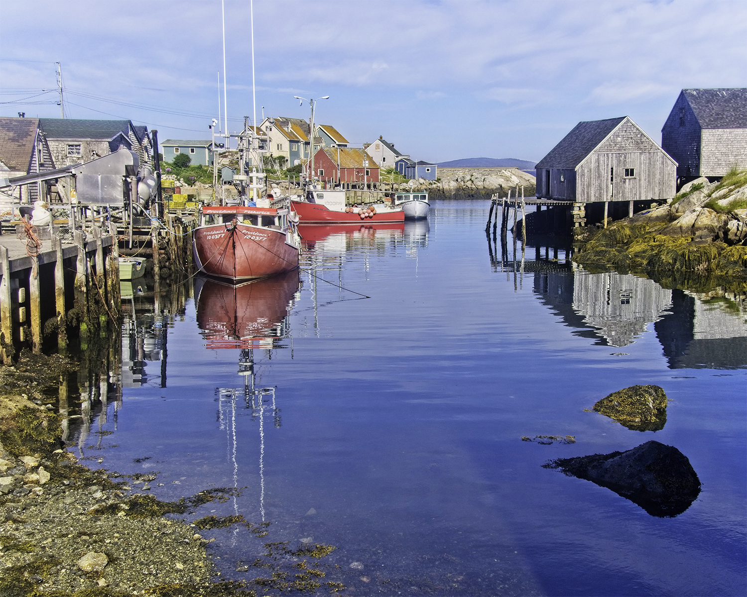 John Faber - Fishing Village - Canadian Maritimes